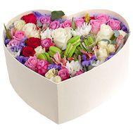 Оригинальная коробка с макарунс - цветы и букеты на roza.od.ua