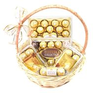"""Ferrero Rocher Gift Basket"" in the online flower shop roza.od.ua"