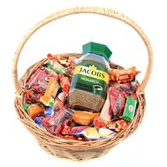 """Gift basket with coffee and sweets"" in the online flower shop roza.od.ua"