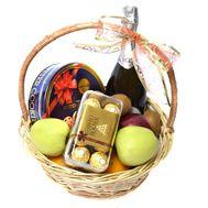 Подарочная корзина с Asti Martini - цветы и букеты на roza.od.ua