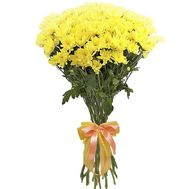 Yellow chrysanthemums in a bouquet - flowers and bouquets on roza.od.ua