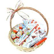 Подарочная корзина Kinder - цветы и букеты на roza.od.ua