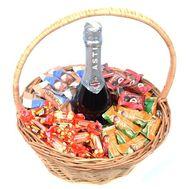 Подарочная корзина с Asti Martini и конфетами - цветы и букеты на roza.od.ua