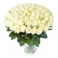 101 white rose 70 cm - flowers and bouquets on roza.od.ua
