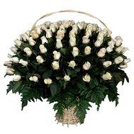101 импортная роза в корзине - цветы и букеты на roza.od.ua