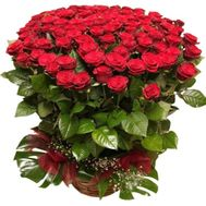 """Bouquet of 101 red roses 80 cm"" in the online flower shop roza.od.ua"