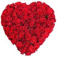 101 красная роза сердце - цветы и букеты на roza.od.ua