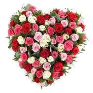 101 разноцветная роза - цветы и букеты на roza.od.ua
