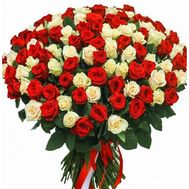 101 rose 60 cm - flowers and bouquets on roza.od.ua