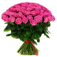 101 pink rose 60 cm - flowers and bouquets on roza.od.ua