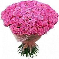 Bouquet of 101 pink roses - flowers and bouquets on roza.od.ua