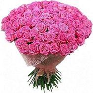 Букет из 101 розовой розы - цветы и букеты на roza.od.ua