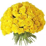 Bouquet of 101 yellow roses - flowers and bouquets on roza.od.ua