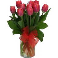 11 red tulips - flowers and bouquets on roza.od.ua