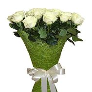 15 imported white roses - flowers and bouquets on roza.od.ua