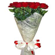 15 imported red roses - flowers and bouquets on roza.od.ua