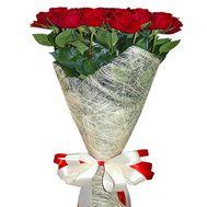 15 импортных красных роз - цветы и букеты на roza.od.ua