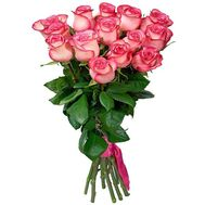 15 imported pink roses - flowers and bouquets on roza.od.ua