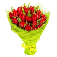 """19 red tulips"" in the online flower shop roza.od.ua"