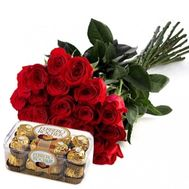 21 imported roses - flowers and bouquets on roza.od.ua