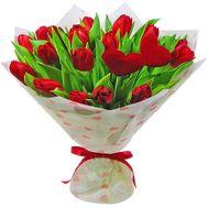 21 красный тюльпан - цветы и букеты на roza.od.ua
