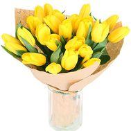 21 желтый тюльпан - цветы и букеты на roza.od.ua