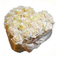 27 белых роз - цветы и букеты на roza.od.ua