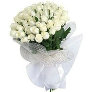 35 white imported roses - flowers and bouquets on roza.od.ua