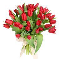 35 красных тюльпанов - цветы и букеты на roza.od.ua