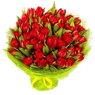 35 red tulips - flowers and bouquets on roza.od.ua