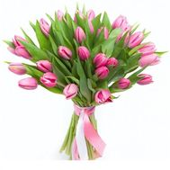 """35 pink tulips"" in the online flower shop roza.od.ua"
