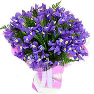 """35 blue irises"" in the online flower shop roza.od.ua"