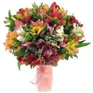 """45 multi-colored alstromeries"" in the online flower shop roza.od.ua"