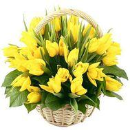 45 желтых тюльпанов - цветы и букеты на roza.od.ua