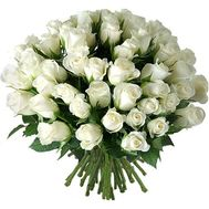 51 imported white rose - flowers and bouquets on roza.od.ua