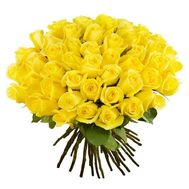 Bouquet of 51 yellow roses - flowers and bouquets on roza.od.ua