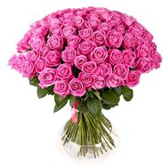 Bouquet of 55 pink roses - flowers and bouquets on roza.od.ua