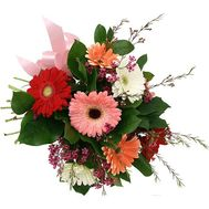 9 varicoloured gerberas - flowers and bouquets on roza.od.ua