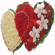 Big heart of roses - flowers and bouquets on roza.od.ua