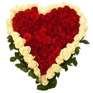 """Big heart of roses"" in the online flower shop roza.od.ua"