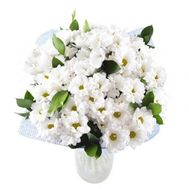 Bouquet of flowers from 15 white chrysanthemums - flowers and bouquets on roza.od.ua