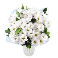 Букет цветов из 15 белых хризантем - цветы и букеты на roza.od.ua