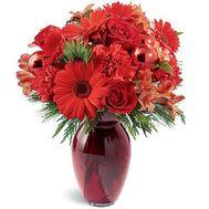 Букет із гербер, троянд і гвоздик - цветы и букеты на roza.od.ua