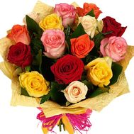 Bouquet of mixed colored roses - flowers and bouquets on roza.od.ua