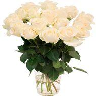 Белые розы:19 шт. - цветы и букеты на roza.od.ua