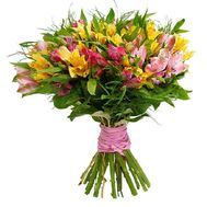 """Bouquet of 21 alstroemerias"" in the online flower shop roza.od.ua"