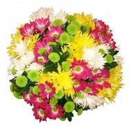 Bouquet of 21 chrysanthemums - flowers and bouquets on roza.od.ua