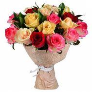 Букет из разноцветных роз - цветы и букеты на roza.od.ua