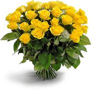 Yellow roses 25 pcs. - flowers and bouquets on roza.od.ua