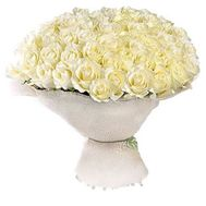 51 white rose - flowers and bouquets on roza.od.ua